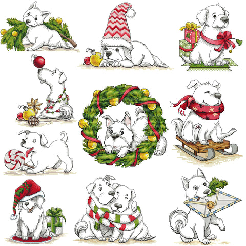 Christmas Dog Set