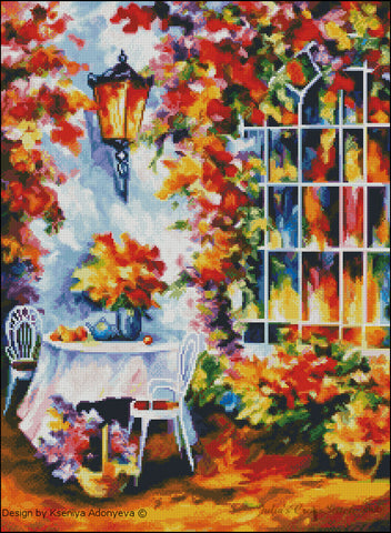 free cross stitch patterns -  Fall Garden - www.crossstitchclub.com