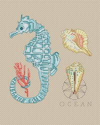 free cross stitch patterns -  Sea Sampler - www.crossstitchclub.com - 1