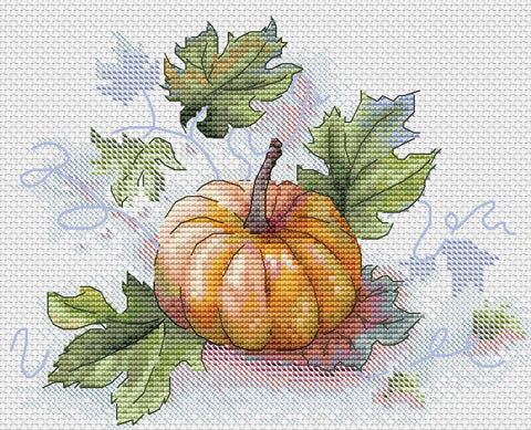 free cross stitch patterns -  A Pumpkin - www.crossstitchclub.com - 1