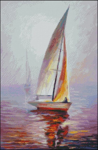 free cross stitch patterns -  A Sailing Boat - www.crossstitchclub.com - 1