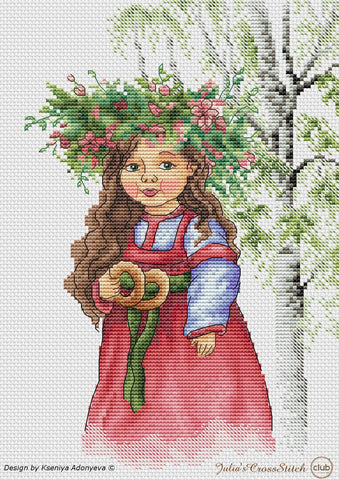 free cross stitch patterns -  Russian Spring - www.crossstitchclub.com