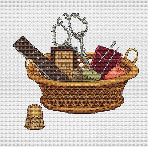 free cross stitch patterns -  A Basket of Stitch Lover - www.crossstitchclub.com - 1
