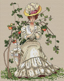 free cross stitch patterns -  A Beautiful Lady - www.crossstitchclub.com - 1