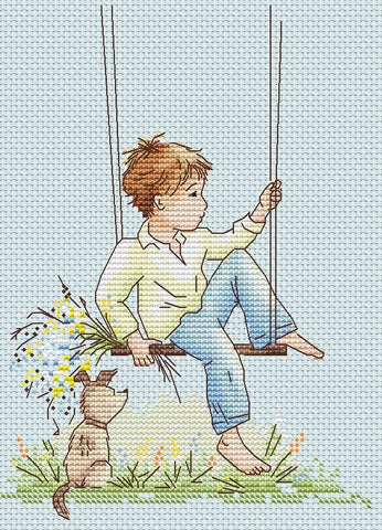 free cross stitch patterns -  A Dreamer - www.crossstitchclub.com - 1