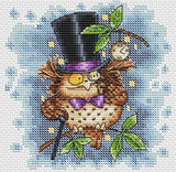 free cross stitch patterns -  A Gentleman Owl - www.crossstitchclub.com - 1