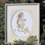 free cross stitch patterns -  A Girl with Chickens - www.crossstitchclub.com - 2
