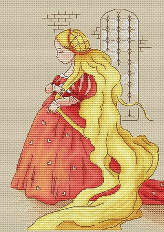 free cross stitch patterns -  A Princess Goldilocks - www.crossstitchclub.com - 1