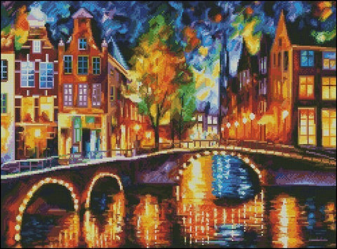 free cross stitch patterns -  Amsterdam in Fall - www.crossstitchclub.com - 1