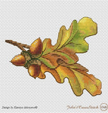 free cross stitch patterns -  Fall Nuts: a Chestnut, a Hazelnut and an Acorn - www.crossstitchclub.com - 3