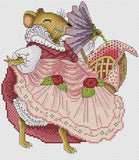 free cross stitch patterns -  Dancing Mouse - www.crossstitchclub.com - 1