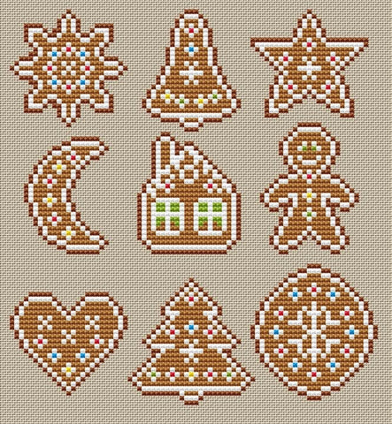 free cross stitch patterns -  Gingerbread - www.crossstitchclub.com - 1