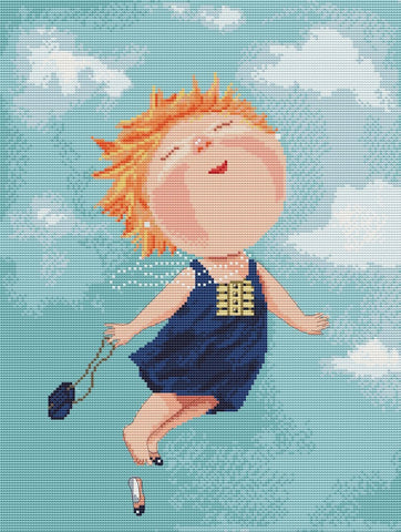 free cross stitch patterns -  I am flying! - www.crossstitchclub.com - 1