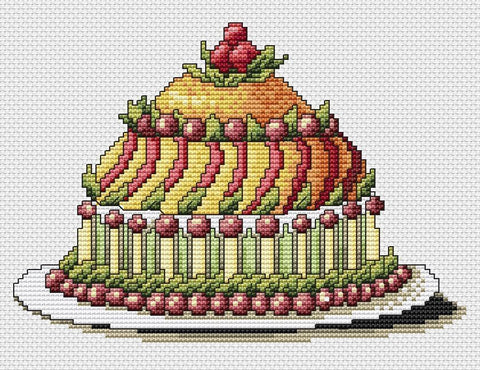 free cross stitch patterns -  Party Cake 2 - www.crossstitchclub.com