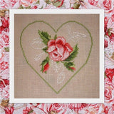 free cross stitch patterns -  Rose Flower Framed by a Heart - www.crossstitchclub.com - 2