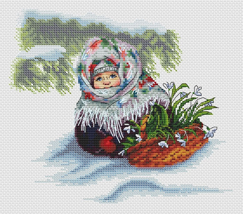 free cross stitch patterns -  Russian Winter 2 - www.crossstitchclub.com