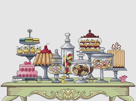 free cross stitch patterns -  Sweets - www.crossstitchclub.com - 1