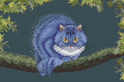 free cross stitch patterns -  The Cheshire Cat - www.crossstitchclub.com