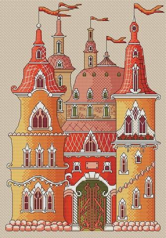 free cross stitch patterns -  The Magic Castle - www.crossstitchclub.com - 1