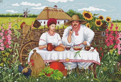 free cross stitch patterns -  Ukraine Country House - www.crossstitchclub.com - 1