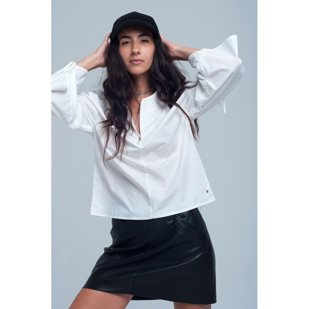 Blouse in white color - Stylishme