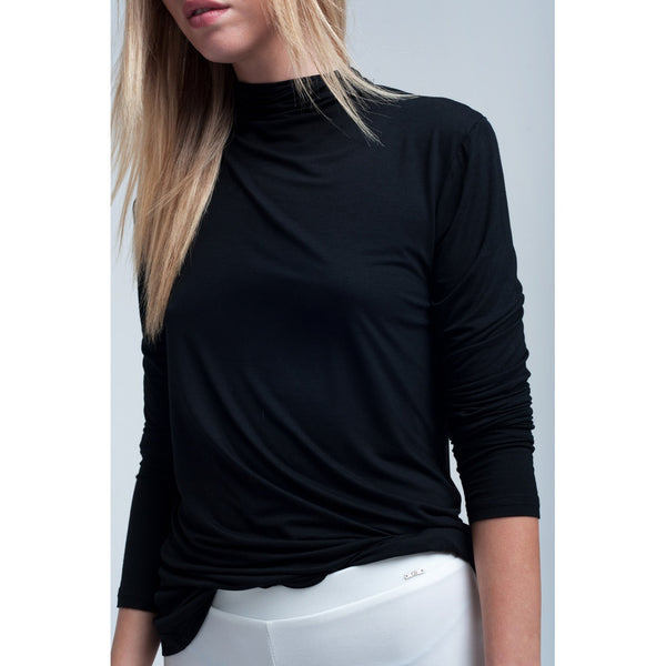 Lightweight top in black - Stylishme