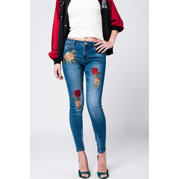 Skinny mid wash blue jeans - Stylishme