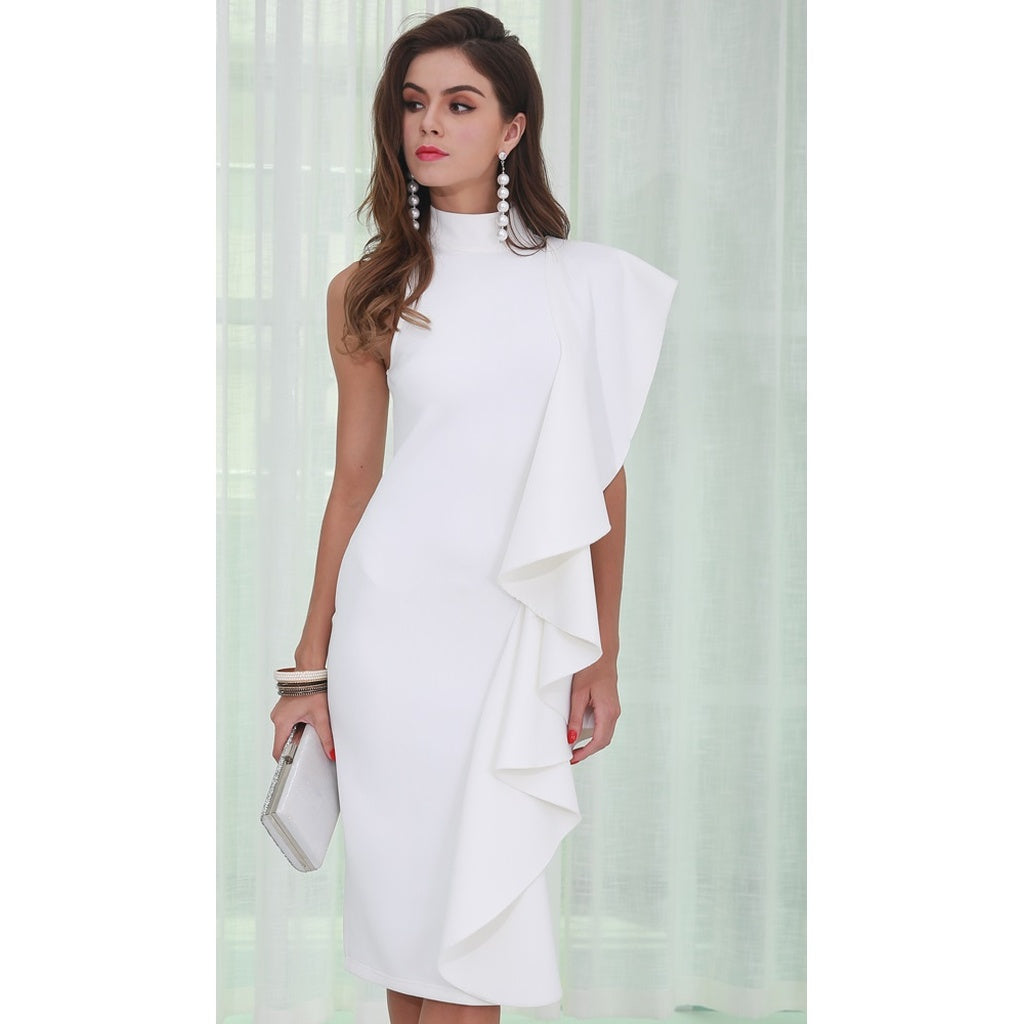 White Midi Dress - Stylishme