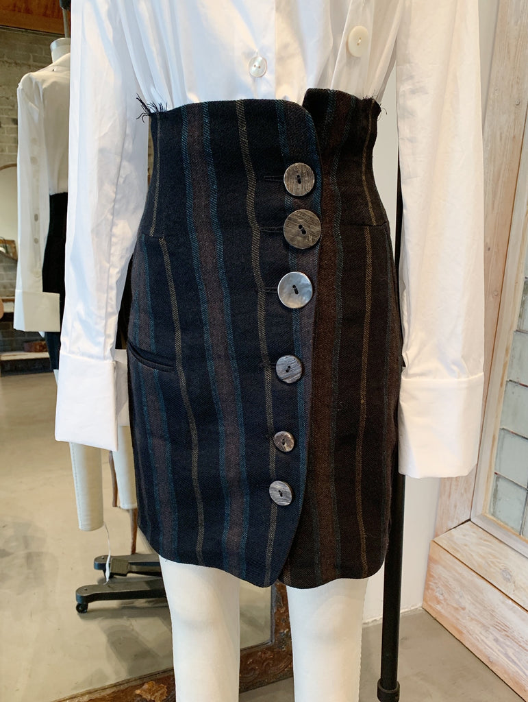 Alessandra Marchi Skirt with Buttons