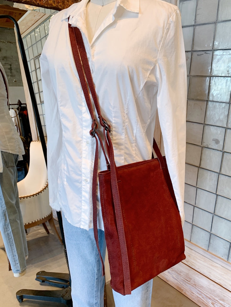 Tagliovivo Little Shopper Suede Bag