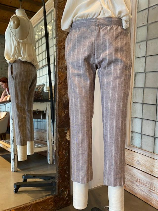 Hazel Brown Cotton Skinny Trousers