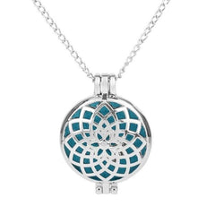Lotus Patterned Necklace Aromatherapy Locket