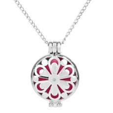 Zinia Flower Necklace Aromatherapy Locket