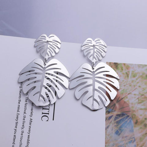 Free new leaf earrings