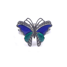 Duo Colored Butterfly Mood Ring