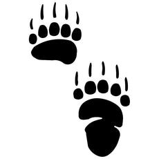 Grizzly Bear Paw Sticker