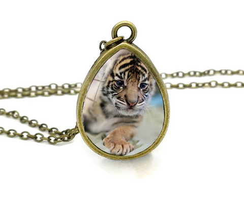 Tiger Cameo Necklace