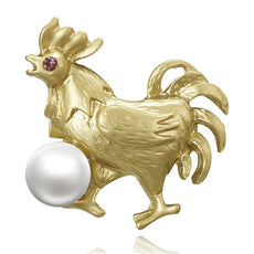 Vintage Chicken Brooch