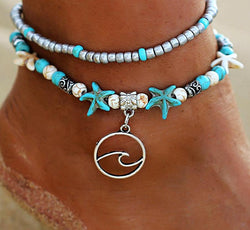 Starfishes and Wave Anklet