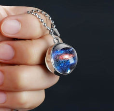 Galaxy Holes Silver Plated Necklace