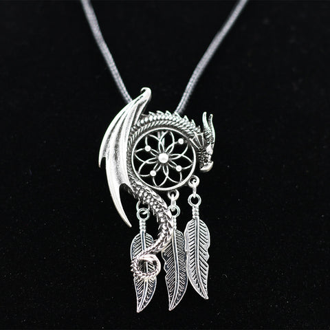 Dreamcatcher with Guardian Dragon Necklace