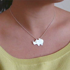 Rhino&Bird Necklace