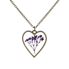 Heart Shaped Flower Necklace