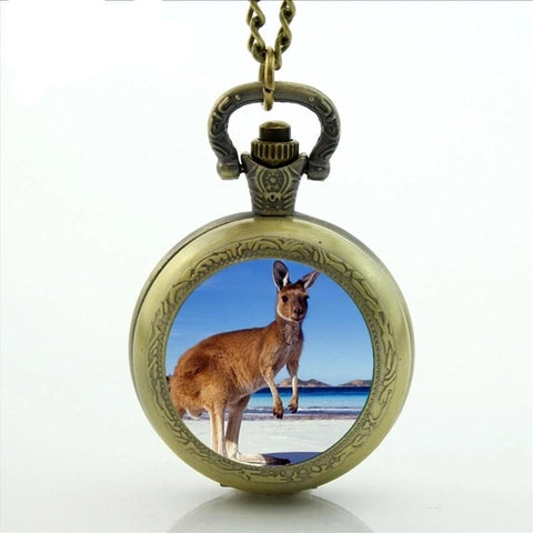 Red Kangaroo Pocket Watch