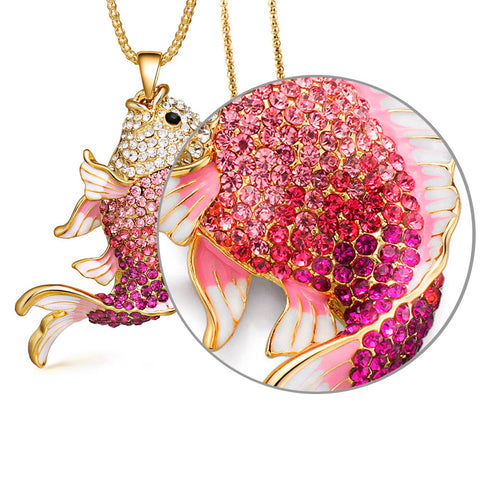 Crystal Fish Necklace