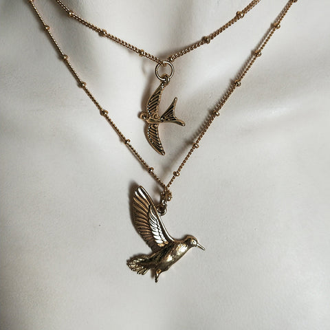 The Albatross Bird Layer Necklace
