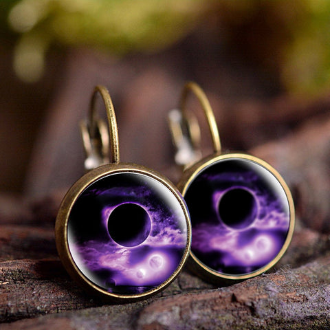 Galaxy Hole Earrings