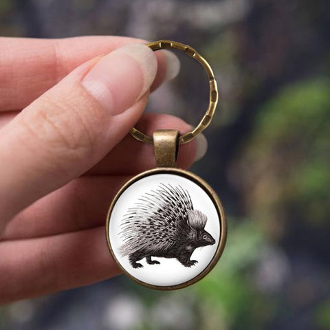 Cape Porcupine Animal Keychain