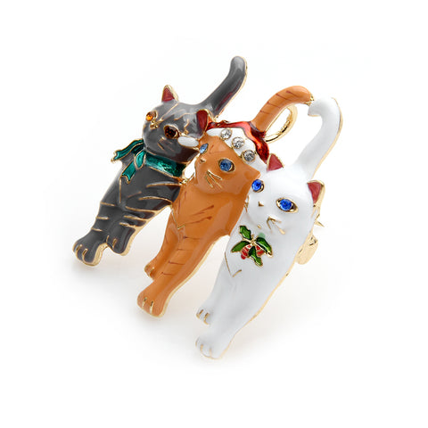 3 Cats Brooch