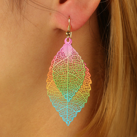 Free Big Leaf Drop Earrings